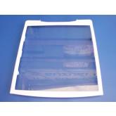 מדף אמנה לתא מזון- זכוכית עם מסגרת פלסטיק SBS
